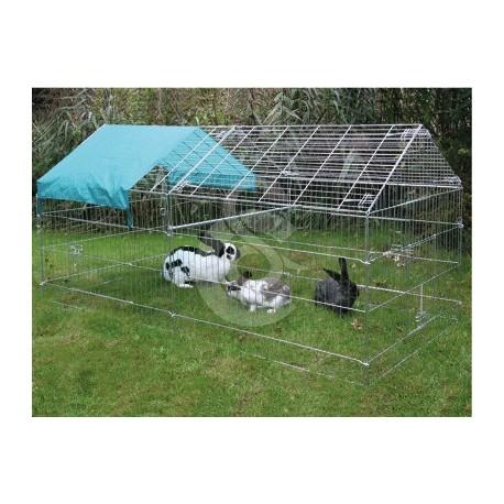 Enclos ext rieur zingu pour volailles lapins ou cobayes for Enclos exterieur pour lapin