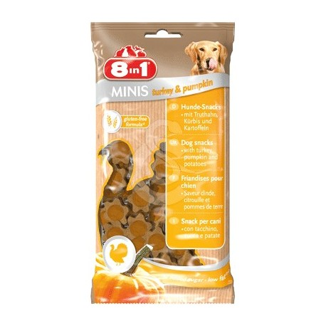 Friandises 8in1 Minis Dinde & Potiron