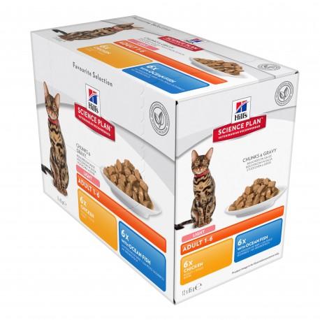 Science Plan Feline Adult Light pack mixte