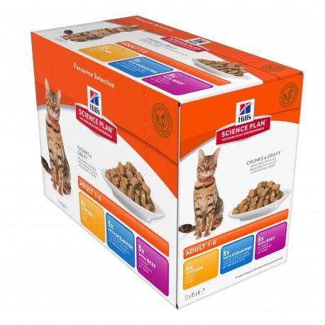 Science Plan Feline Adult pack mixte
