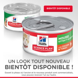 Science plan kitten mousse 1ère nutrition chicken & turkey