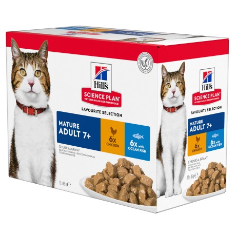 Science Plan Feline Mature Adult 7+ pack mixte