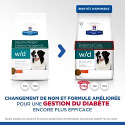 Prescription Diet Canine w/d Diabete au Poulet
